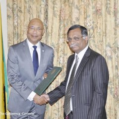 HE Mizanur Rahman High Commissioner of Bangladesh to Jamaica presented his Letters of Credence to the Most Hon'ble Sir Patric Allen, Governor General of Jamaica in Kingston on 6 February 2017